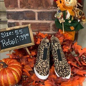 Felicia III Genuine Calf Hair Wedge Sneaker Sz 5.5